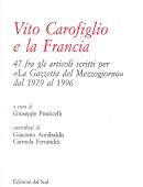 Vito Carofiglio e la Francia