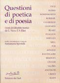 Questioni di poetica e di poesiatesti del dibattito teorico  da G. Vico a T.S. Eliot