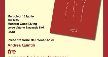"""Prima presentazione del romanzo """"tre - ognuno ha i suoi fantasmi"""" di Andrea Quintili"""
